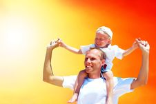 Free Joyful Father And Son Royalty Free Stock Image - 16373746