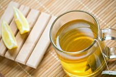 Free Green Tea Hot Drink And Lemon Stock Photo - 16373800