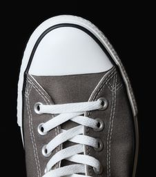 Free Gray Sneakers Youth Footwear Royalty Free Stock Photography - 16373957