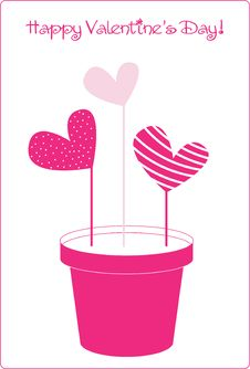 Free Valentine S Day Vector Card Stock Photography - 16374032