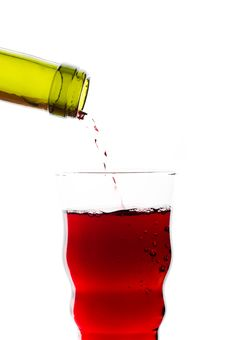 Free Red Wine Pouring Into Glass Royalty Free Stock Photo - 16374115