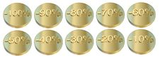 Free Golden Percentage Icons Stock Photos - 16374433