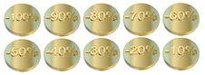 Free Golden Percentage Icons Stock Photos - 16374433