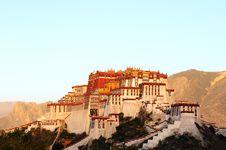 Free Potala Palace At Sunrise Stock Photography - 16374702