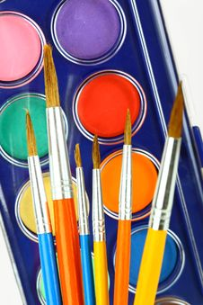 Free Watercolors And Brushes Royalty Free Stock Photos - 16374938