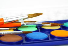 Free Watercolors And Brushes Stock Photo - 16375030