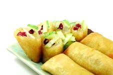 Free Fried Spring Rolls Stock Photo - 16375220