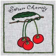Free Sour Cherry Label Woodcut Stock Images - 16375284