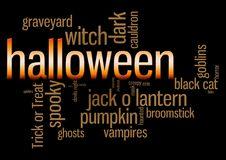 Halloween Word Cloud Stock Photos