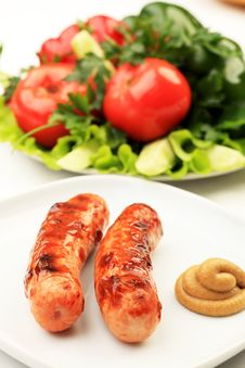 Free Vegetables And Sausages Royalty Free Stock Images - 16376759