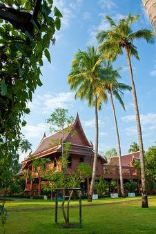 Free Thai Style Garden Home Royalty Free Stock Image - 16376846