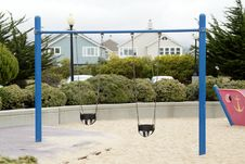 Free Swing On Children S Playground Royalty Free Stock Photos - 16377078