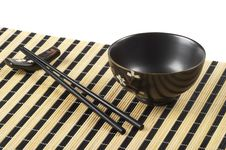 Free Bowl And Chopsticks Royalty Free Stock Image - 16377156