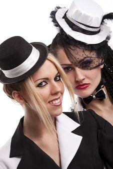 Free Cabaret Girls Royalty Free Stock Photos - 16377198
