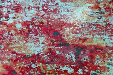 The Texture Of Red Paint Royalty Free Stock Photos
