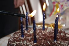 Free Lighting Birthday Candles Royalty Free Stock Images - 16377909