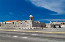 The Fortresses Of La Punta And El Morro In Havana, Royalty Free Stock Image