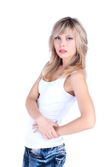 Free Blond Beautiful Woman Royalty Free Stock Image - 16378586