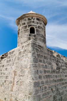 Free Tower Of An Old Castle With A Beautiful Blue Sky Stock Photos - 16378593