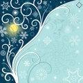Free Blue Christmas Frame Stock Photo - 16384090