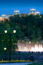 Free Night Fountain And The Lights Royalty Free Stock Photos - 16387758