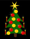 Free Christmas Tree Golden And Red Stock Photography - 16387952