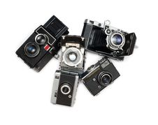 Free Ancient Cameras Royalty Free Stock Photography - 16382547