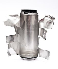 Free Torn Aluminum Can Stock Photo - 16382990
