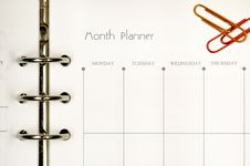 Free Month Planner Form Stock Photos - 16383013