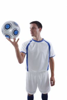 Free Young Soccer Player In Action Royalty Free Stock Photography - 16383027