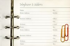 Free Telephone And Address Form Royalty Free Stock Photography - 16383147