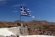 Free Greek Flag Stock Photography - 16383232