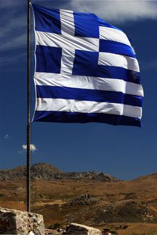 Free Greek Flag Stock Photo - 16383260