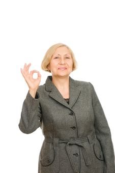 Free Smiling Senior Business Woman Stock Photography - 16383352