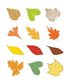 Free Leaf Design Elements Stock Image - 16383371