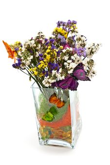 Free Flowers And Butterfly Royalty Free Stock Photography - 16383607