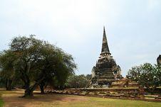 Free Stupa At Ayudhya Thailand Stock Photography - 16383662