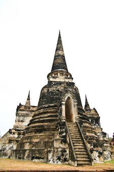 Free Stupa At Ayudhya Thailand Stock Image - 16383671