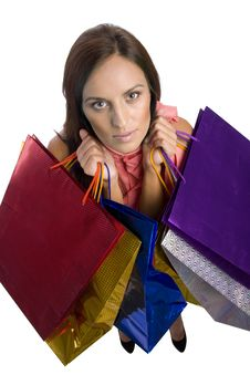 Free Young Woman With Purchases Stock Photo - 16383710