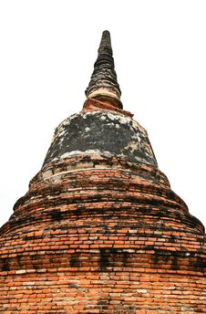 Free Stupa At Ayudhya Thailand Stock Photos - 16383743