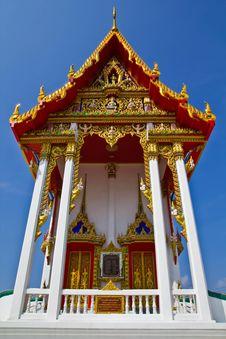 Free Thai Church Facade. Stock Photo - 16383860