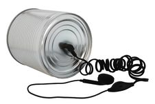 Free Cans Phone. Stock Images - 16384004