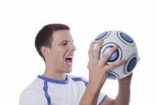 Free Young Soccer Player In Action Royalty Free Stock Images - 16384019