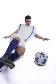 Free Young Soccer Player In Action Stock Photos - 16384133