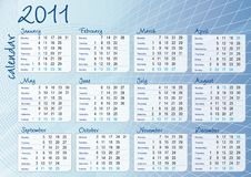 Free Blue Graphic All-months Calendar Royalty Free Stock Image - 16384226