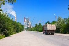Free Road To Cement Plant Royalty Free Stock Photo - 16384325