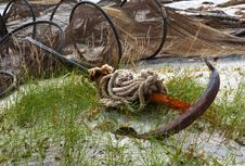 Free Old Anchor Qnd Fishing Nets Stock Images - 16385184