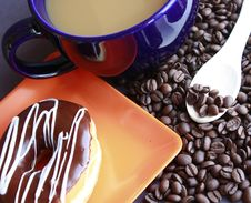 Coffee And Donut Royalty Free Stock Images