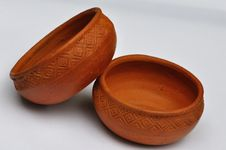 Free Thai Clay Pots For Cooking Royalty Free Stock Images - 16385879