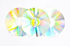 Colorful Three CDs Stock Photos